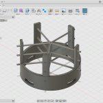 ティアラ(冠?)の土台をFusion360で設計しUPBOX+で3Dプリント